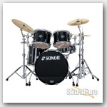 Sonor 5pc Ascent Stage 3 Drum Set w/ Mount- Piano Black