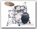 Sonor 5pc Ascent Studio Drum Set W/Mount- Creme White