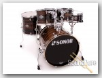 Sonor 5pc Ascent Studio Drum Set- Ebony Stripes