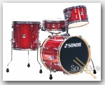 Sonor 4pc Be Bop Drum Set-Red Galaxy Sparkle