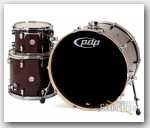 PDP 3pc Concept Maple Drum Set by DW-Transparent Walnut