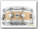 DW 6x14 Collector's Edge Curly Maple Snare Drum-Natural