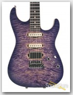Anderson Drop Top Natural Purple Burst w/ Binding #07-17-16N