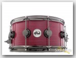 DW 6.5x14 Collectors Series Purpleheart Snare Drum-Black