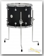 DW Design Series 12x14 Floor Tom Black Satin
