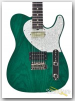 Michael Tuttle Tuned ST Trans Teal/Black Back Electric #448