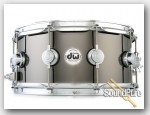 DW 6.5x14 Collectors Black Nickel over Brass Snare Drum Demo/Open Box