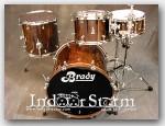 Brady 3pc Jarrah Ply Drum Set. Finish: