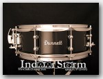 Dunnett 5.5x14 Milkwood Monoply Snare Drum. Finish: