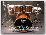 "GMS Special Edition 5pc Ash Drum Set. Color: ""Chestnut Stain Satin"""