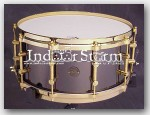 "Gretsch 6.5x14 New Classic Black Brass Snare Drum. Color:""Polished"""