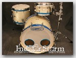 "Orange County Drums  3pc Maple Shell Pack. OCDP Color:""Silver Sparkle Wrap"""