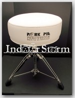 "Pork Pie Drum Throne Round Seat- Color: ""White w/White"""