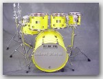 "Pork Pie Percussion 5pc Maple Shell Pack. Color:""Hiliter Yellow Gloss"""
