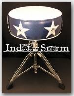 """Pork Pie Percussion Round Drum Throne. Color:""""Stars & Pigs"""""""