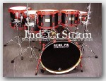 "Pork Pie Percussion 6pc Maple Drum Set. Color:""Black Sparkle Wrap"""
