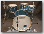 "Pork Pie Percussion 4pc Acrylic Drum Set. Color:""Blue"""