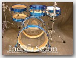 "Spaun 4pc Maple Drum Set-Color:""Blue Sparkle Wrap Hybrid"""