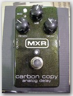 "MXR Carbon Copy Analog Delay, Color ""Green"", Item # GA1607"