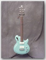 "Gadow Guitars, Custom Hollow Mahogay, Color ""Tail Fin Green"", Item # GGAD01"
