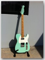 "Used Michael Tuttle Guitars, 60's T, Ash Body color ""Double Bound Surf Green"", Item # GMT15"