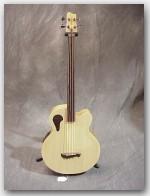 "Tacoma Guitars, Thundercheif Fretless Bass, Color ""Natural"", Item # GTAC03"