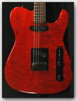 Suhr/Anderson/Wilkins/Schecter Custom Built T, Maple Body, Shedua Neck, Trans Red, Item # JS111