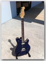 "Michael Tuttle Guitars, Carve Top Special, color ""Trans Blue"", Item #MTCT01"