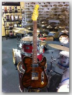 "Michael Tuttle Guitars, Tuned T, Ash Body / Maple Top color ""Tiger Burst Nitro"", Item # MTWR5"