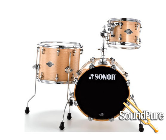 3pc sonor select force jungle maple drum set maple ebay for 14x12 floor tom